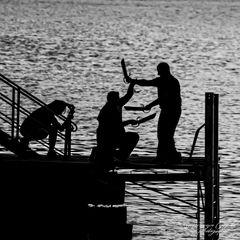 höchste Konzentration - abends am See