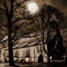 Hoechstkirche bei Nacht