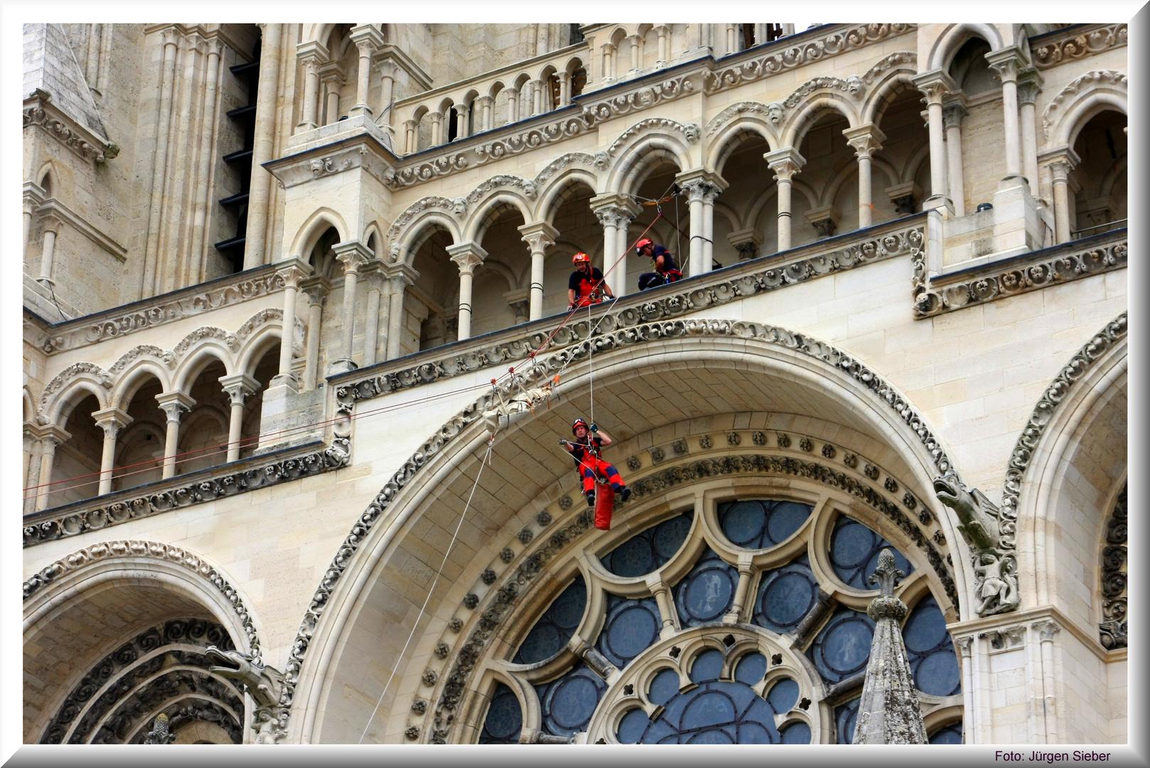 Höhenrettung an der Kathedrale