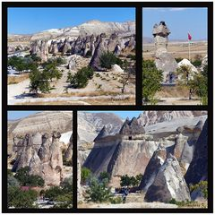Höhlen in luftiger Höhe - überdacht von Hüten aus Magma