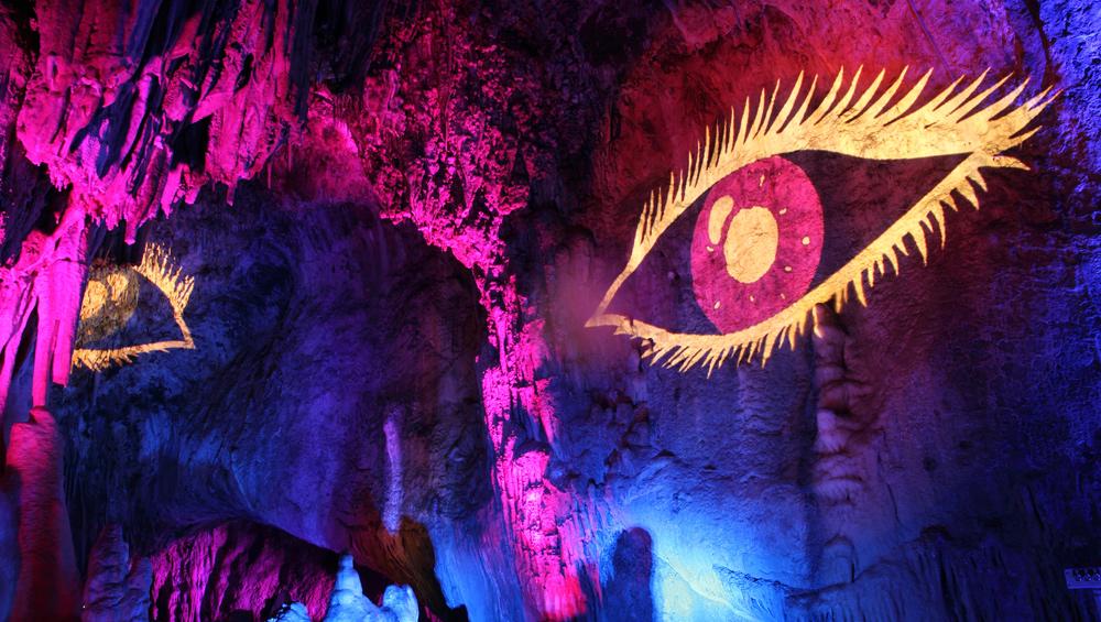 Höhlenleuchten in der Dechenhöhle