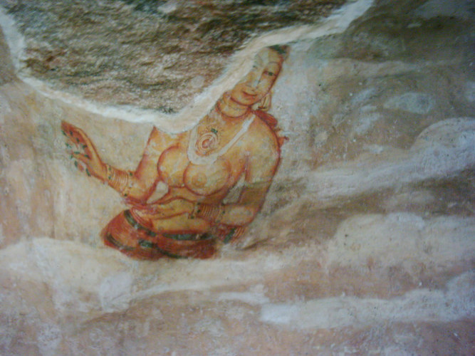 Höhlenmalerei aus Sri Lanka