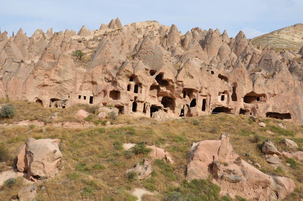 Höhlenwohnungen in Zelve in Kappadokien