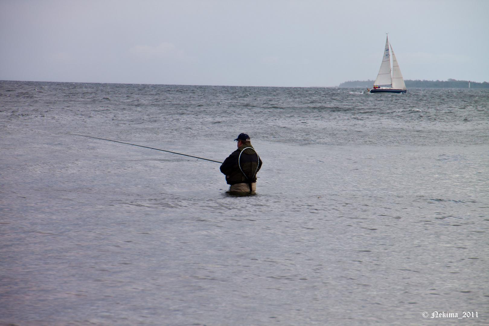 Hoffentlich beißen die Fische nicht... ;-)