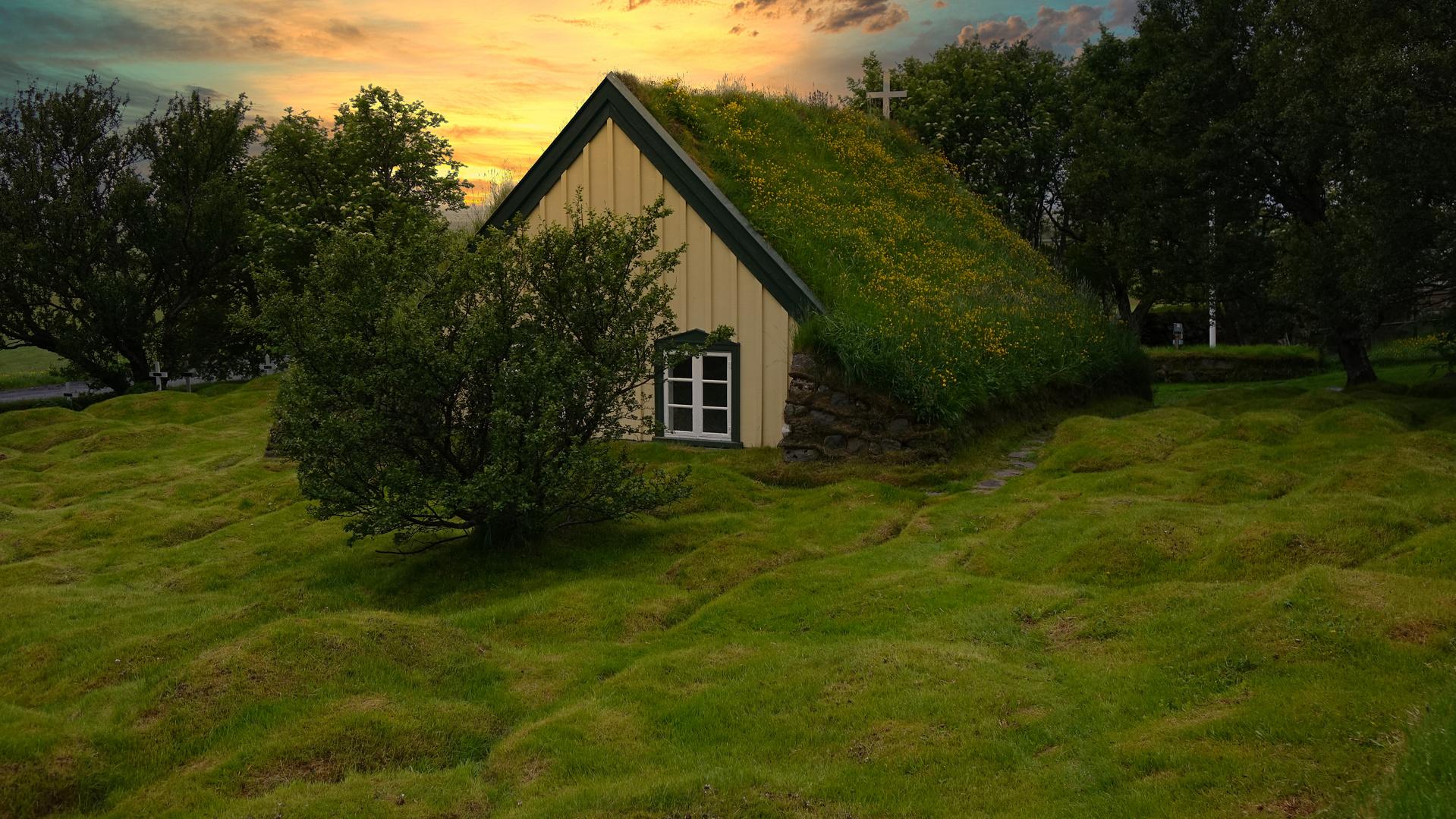 Hofskirkja auf Island