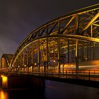 Hohenzollernbrücke und Dom Köln