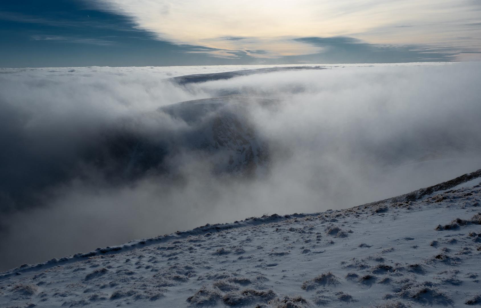 Hohneck, neige et nuage