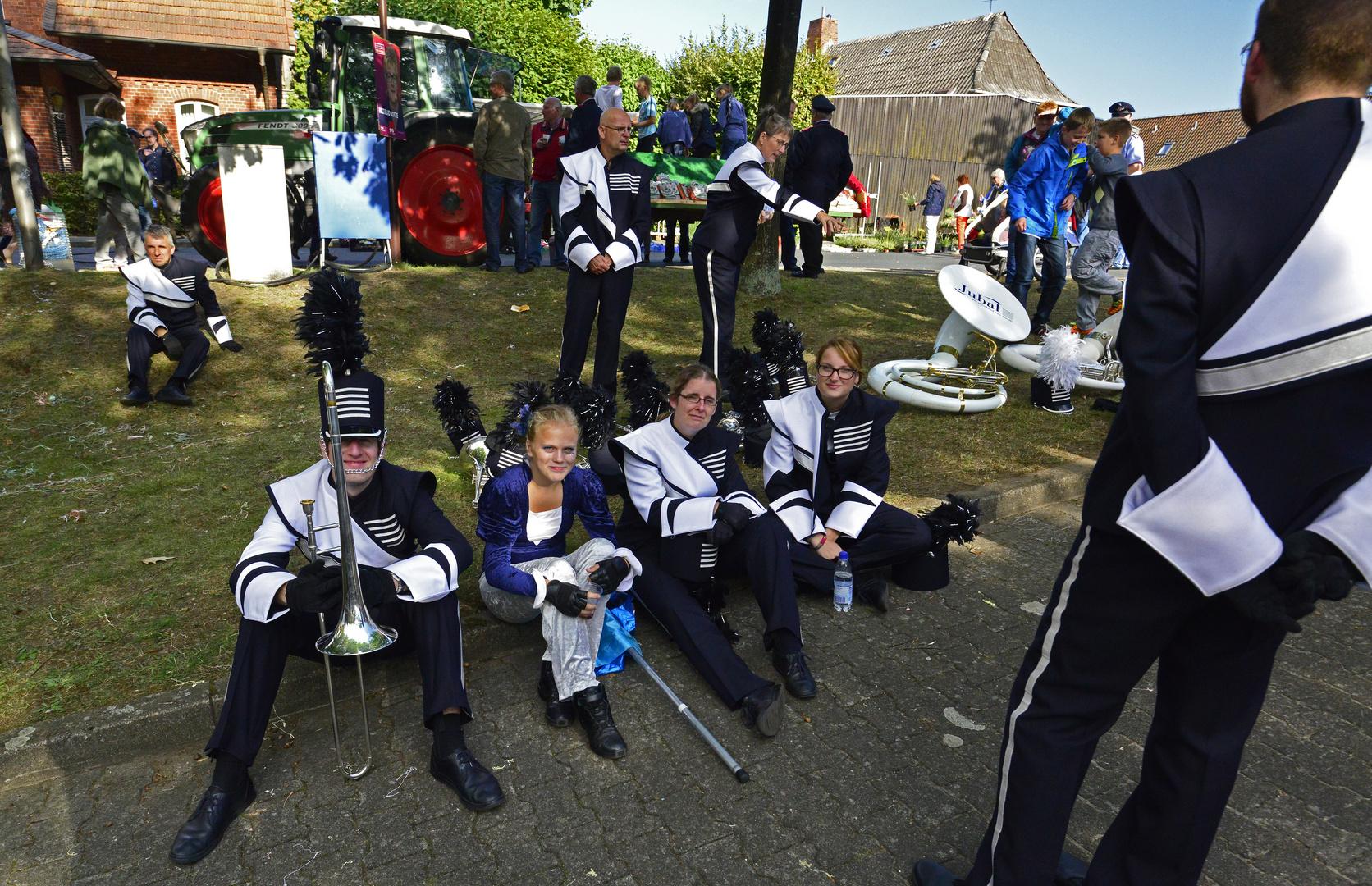 Holländische Musiker beim Erntedankumzug in Bardowick