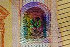 Hologramm auf dem 50-Euro-Schein