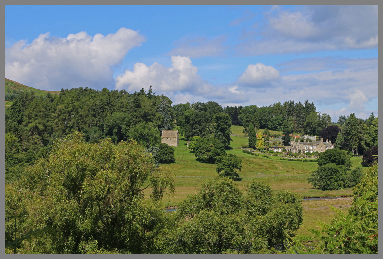 Hol;ystone hall and woodhouse bastle Coquetdale Northumberland