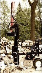 Holz Spalten ...