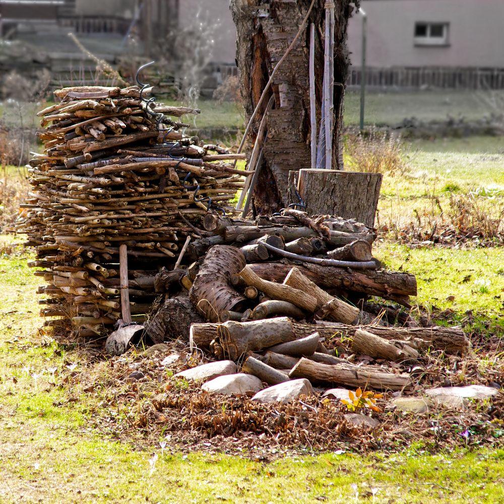 Holz vor der Hütte...
