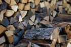 Holz vor der Hütt'n