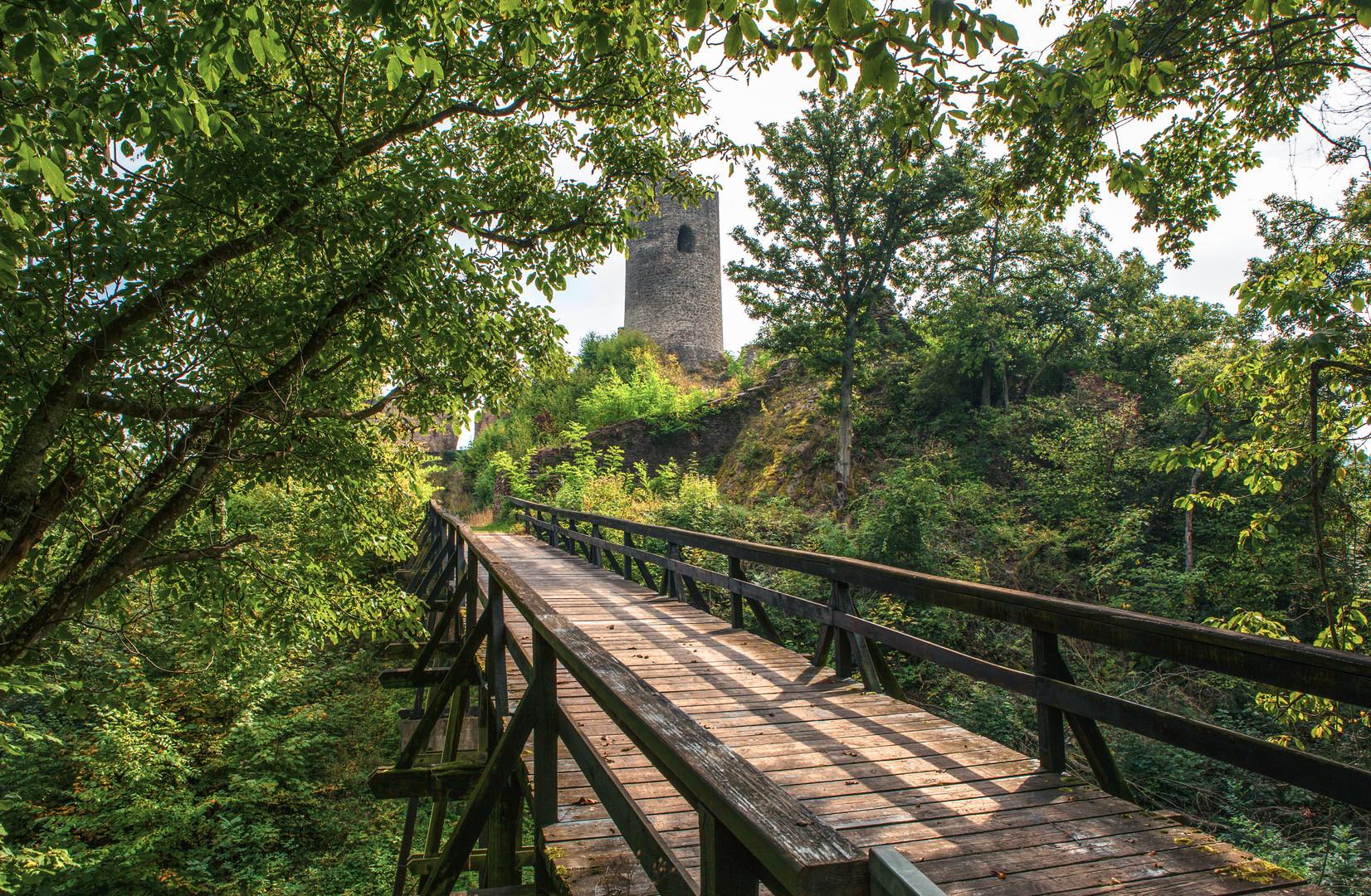 Holzbrücke zur Winneburg Cochem