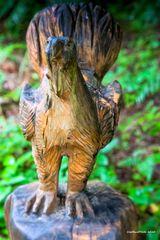Holzfigur auf dem Felix Rundweg Seewald-Besenfeld
