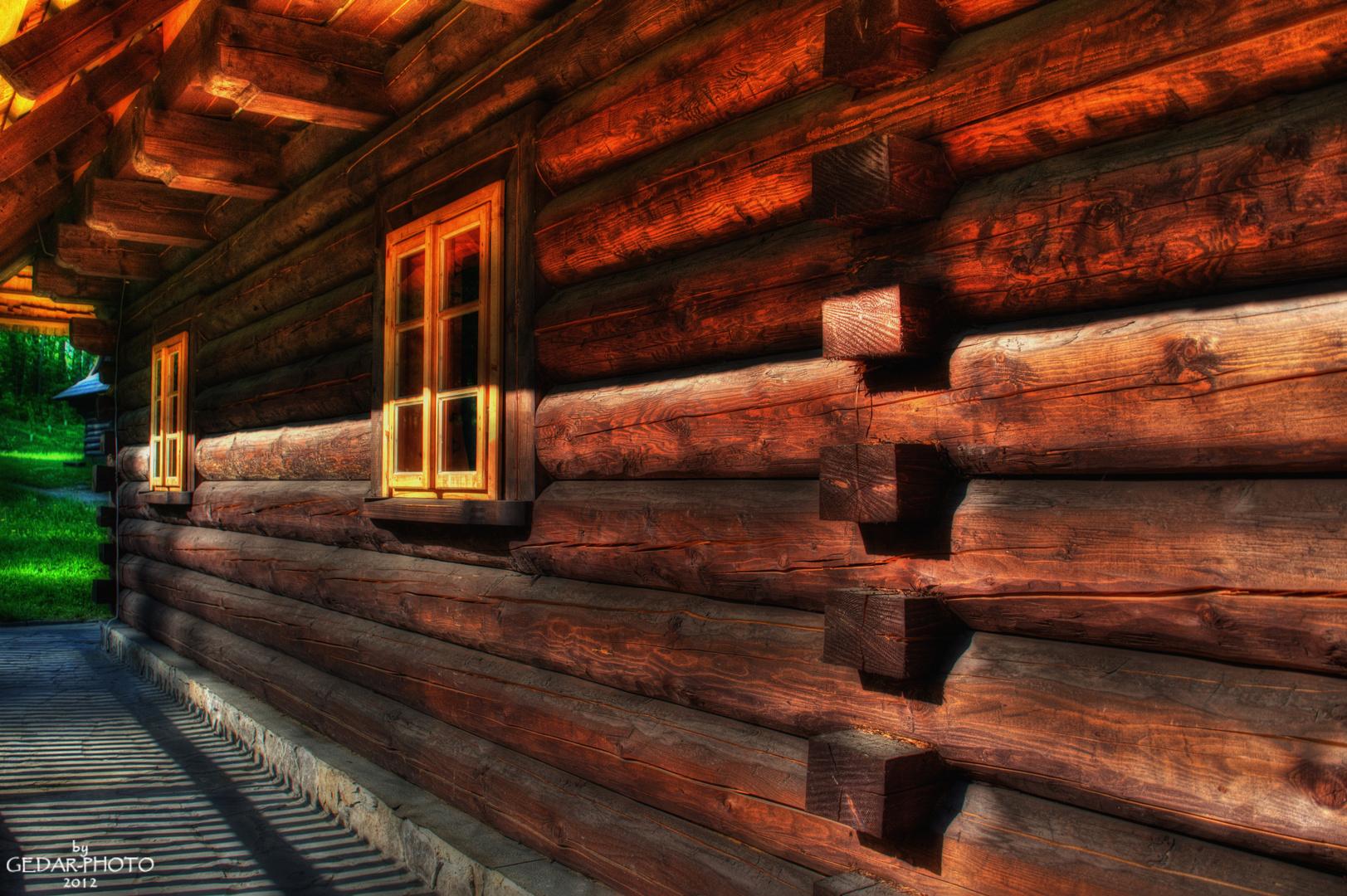 Holzhaus eines Gorales (Chata Góralska)
