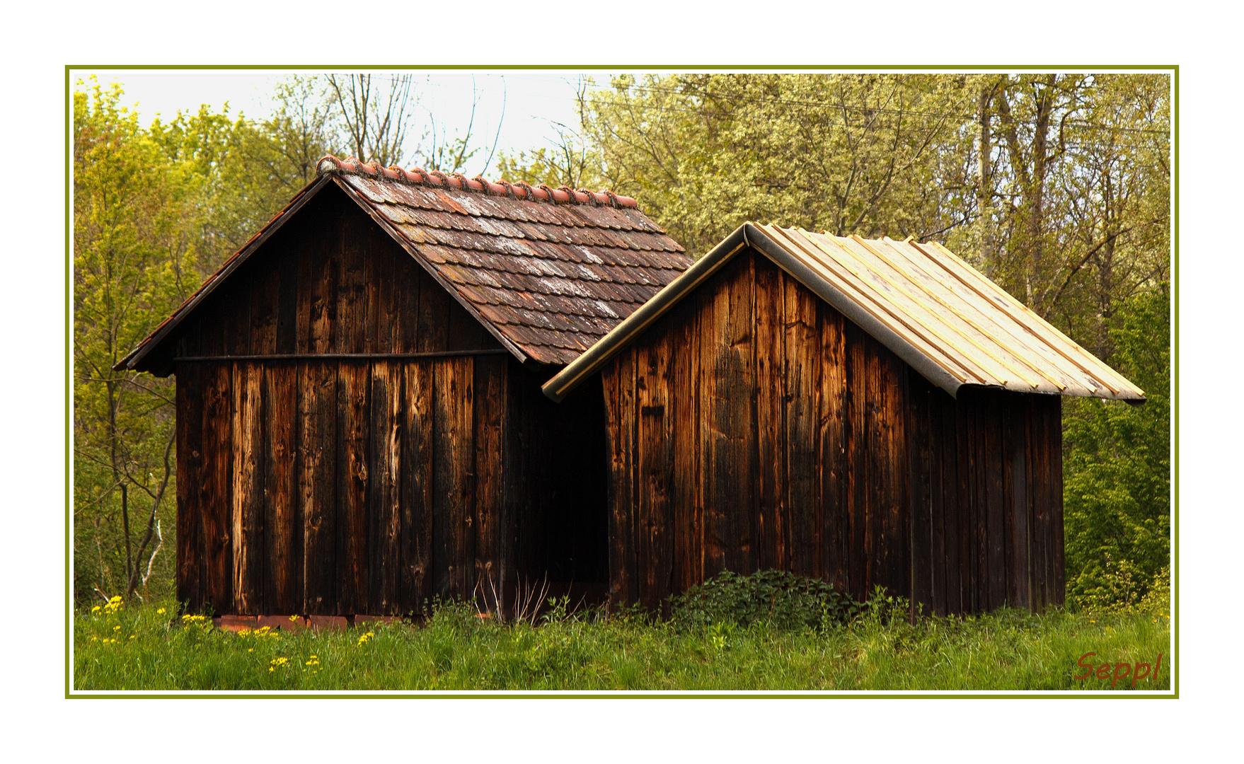 Holzhütten unter sich