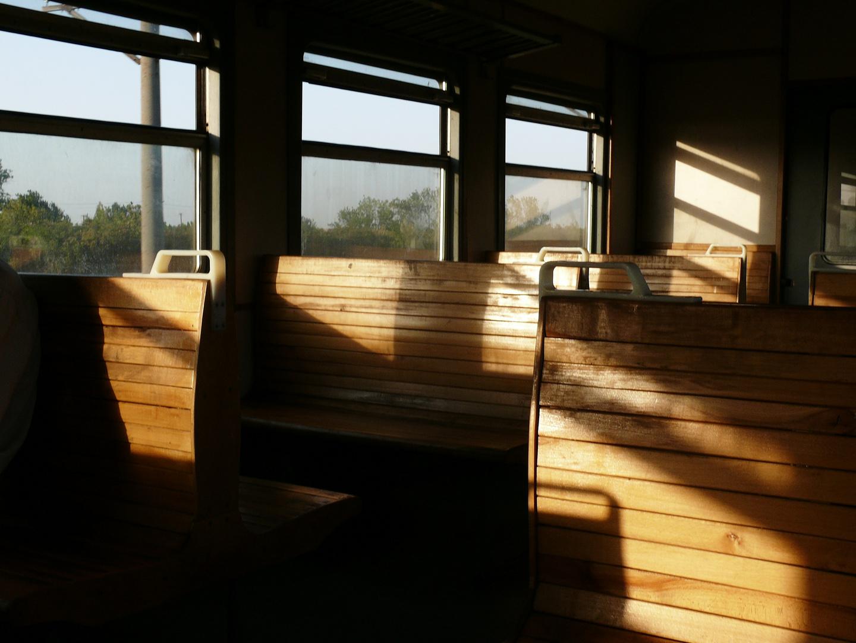 Holzklasse im Elektritschka