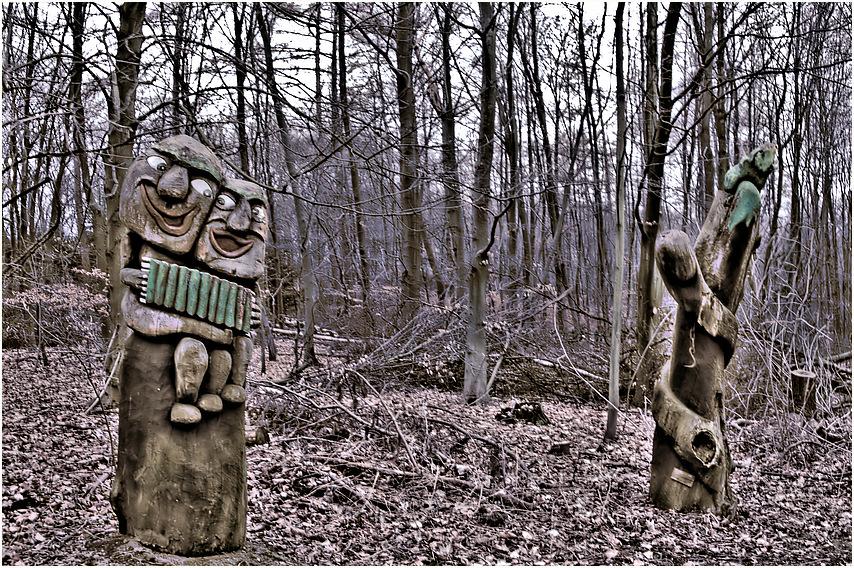 Holzmusik zwischen den Bäumen...