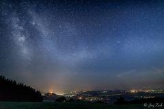 Homberg unter dem Sternenhimmel