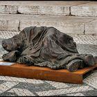 Homeless bronze statue