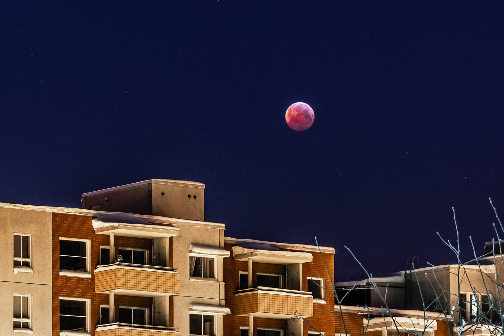 Homes and super blood wolf moon