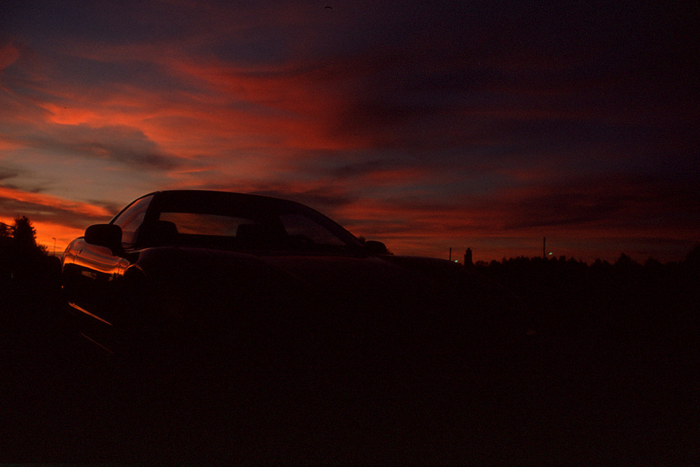 Honda NSX VOR dem Sonnenuntergang Dia-Scan 0059