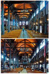 Honfleur - Innenraum der ungewöhnlichen Kirche
