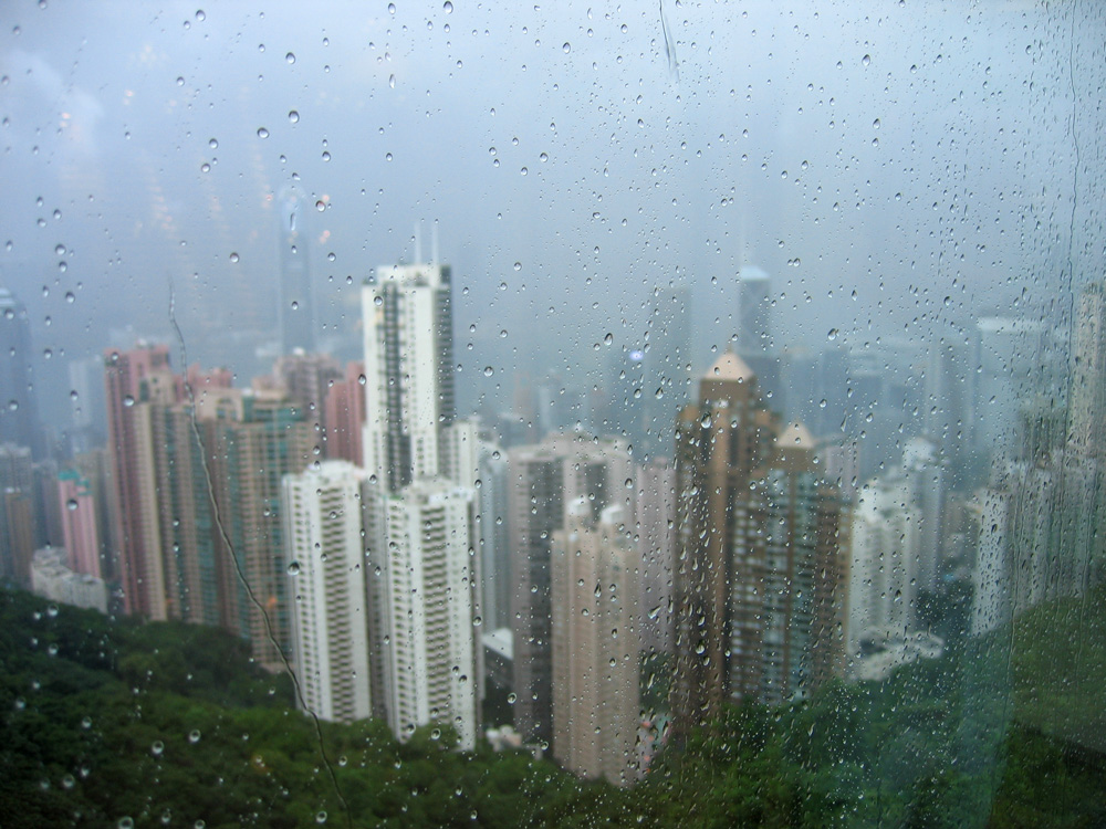 Hong Kong bei Regen
