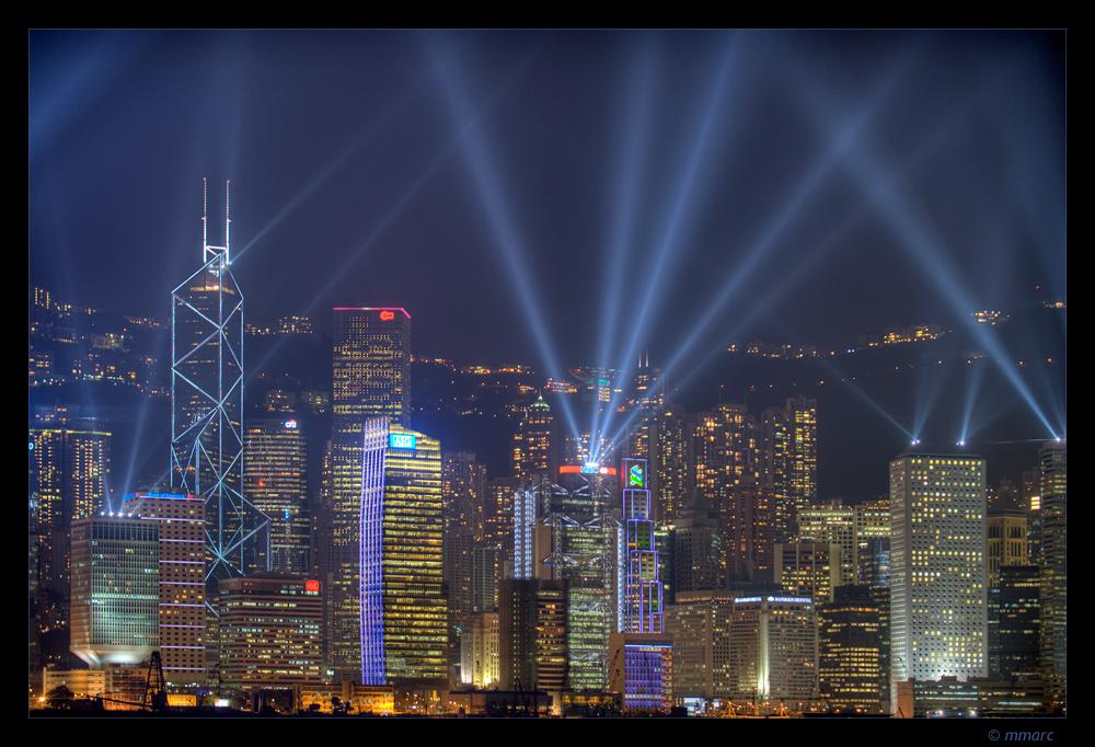 Hong Kong Central Skyline
