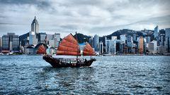 """Hongkong Skyline """"Pseudo-HDR"""""""