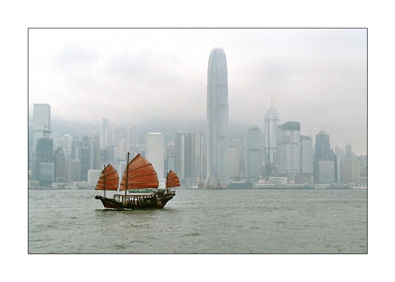 Hongkong, Victoria Bay in Fog