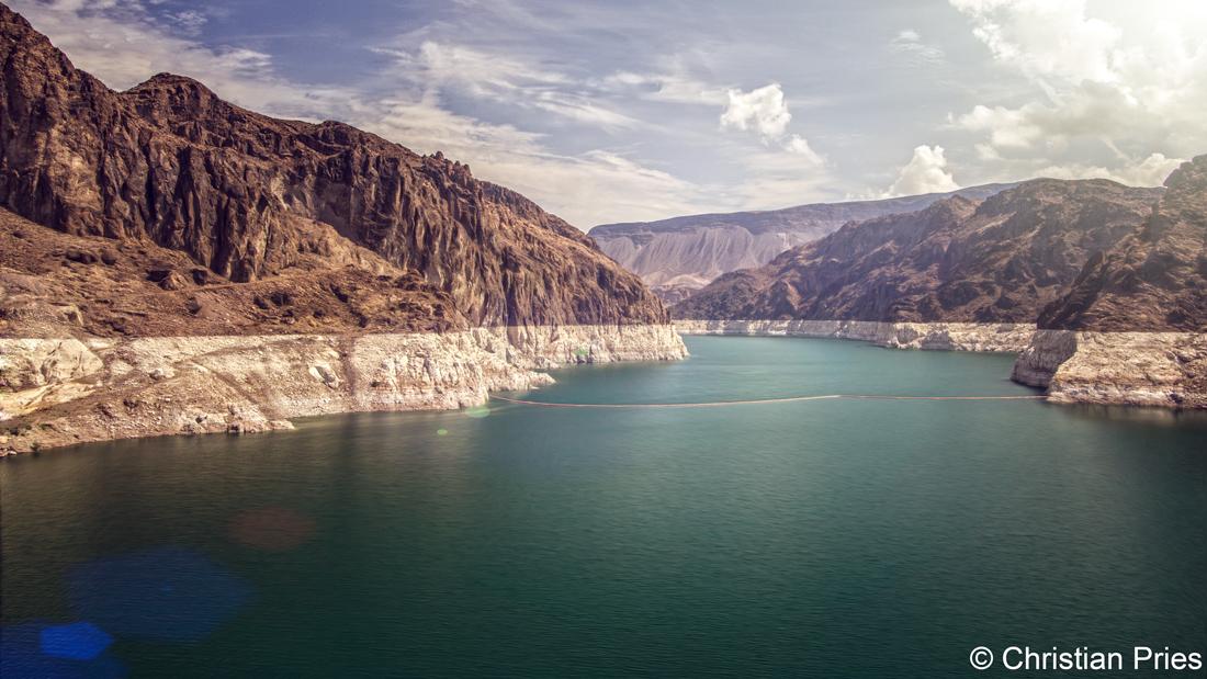 Hoover Dam, between Nevada and Arizona