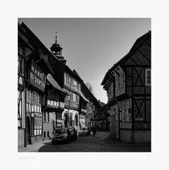"""Hornburg """" die Altstadt, in der Abendsonne """""""