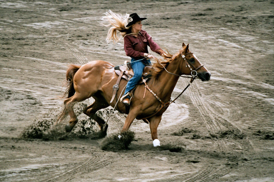 Horse Riding on a Rodeo in Canada