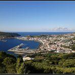 Horta.il capoluogo dell'isola di Faial