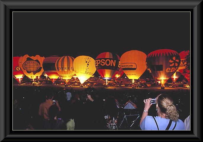Hot air Balloon Night Glow
