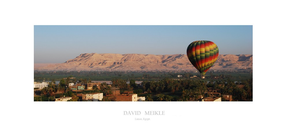 Hot Air Balloon over the Nile (Luxor, Egypt).