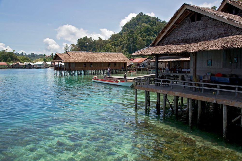 Hotel in Sawai- Molukken/ Indonesien
