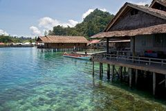 Hotel in Sawai- Molukken/ Indonesien