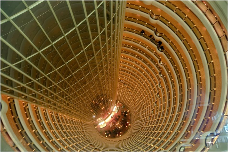 hotel lobby im jin mao tower