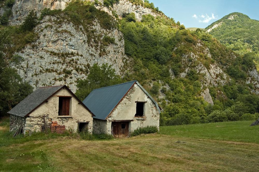 Houses in the Pyrénées