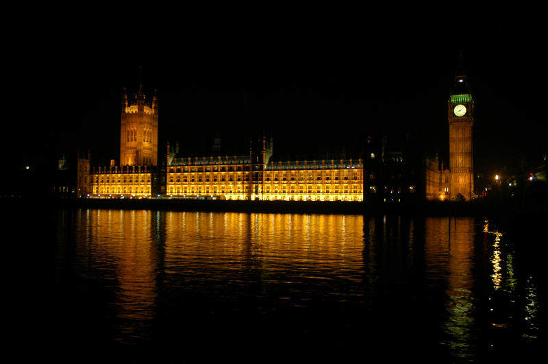 Houses of Parliament at night - London