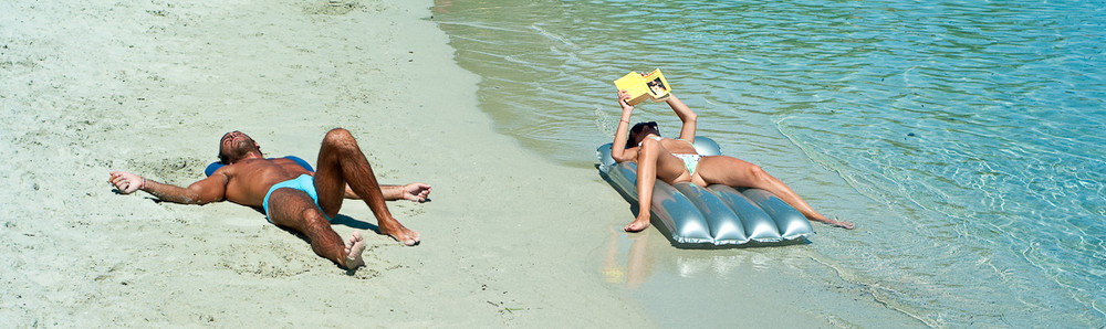 How not to lie down on the beach!