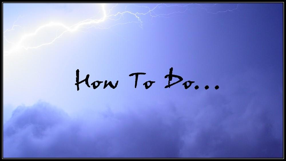 How to do ... Blitze fotografieren!