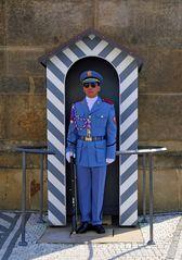 """ Hradní stráz "" - oder eine Burgwache in Prag"