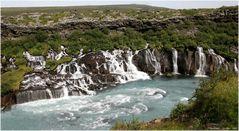 * Hraunfossar * . . Iceland 04