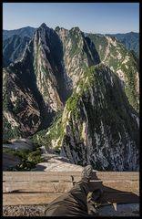Hua Shan . Klippenpfad