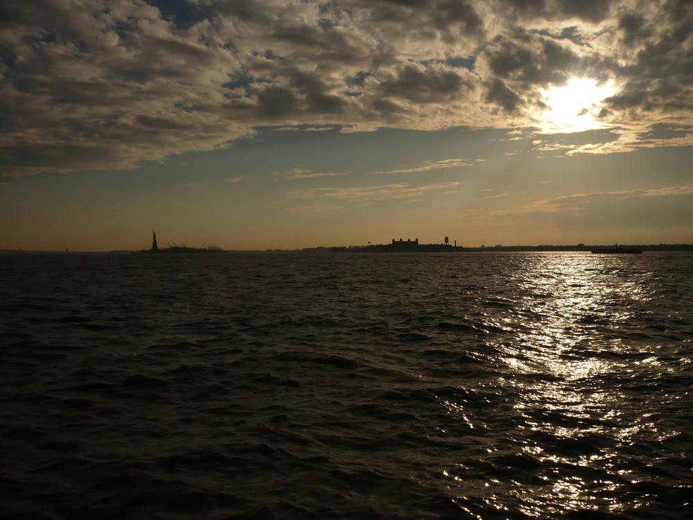 Hudson River aus der Sicht vom Battery Park