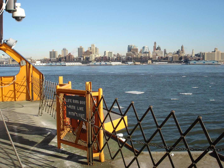 Hudson River mit Eis